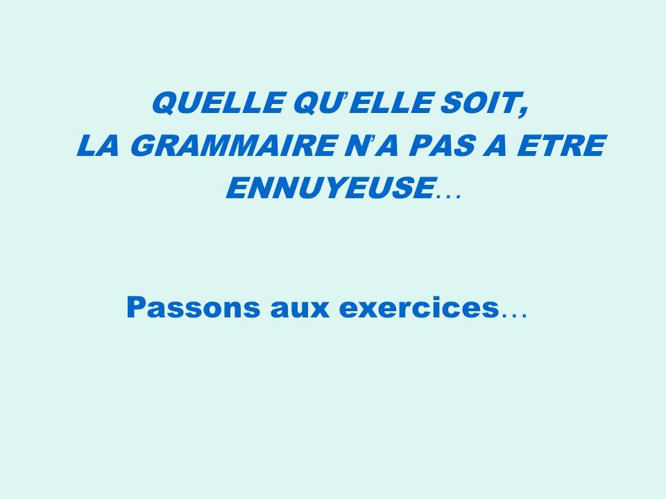 Quelle grammaire ? Ne pas Apprendre la grammaire pour apprendre la langue, Développer une conscience grammaticale Mais Apprendre la langue pour appren