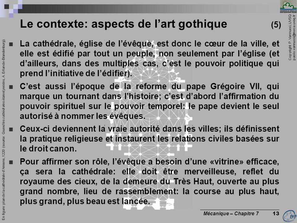 Copyright: P. Vannucci, UVSQ paolo.vannucci@meca.uvsq.fr ________________________________ Mécanique – Chapitre 7 13 Le contexte: aspects de lart gothi