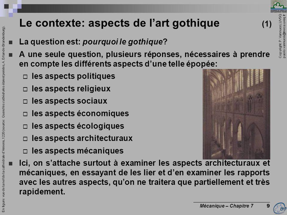 Copyright: P. Vannucci, UVSQ paolo.vannucci@meca.uvsq.fr ________________________________ Mécanique – Chapitre 7 9 Le contexte: aspects de lart gothiq