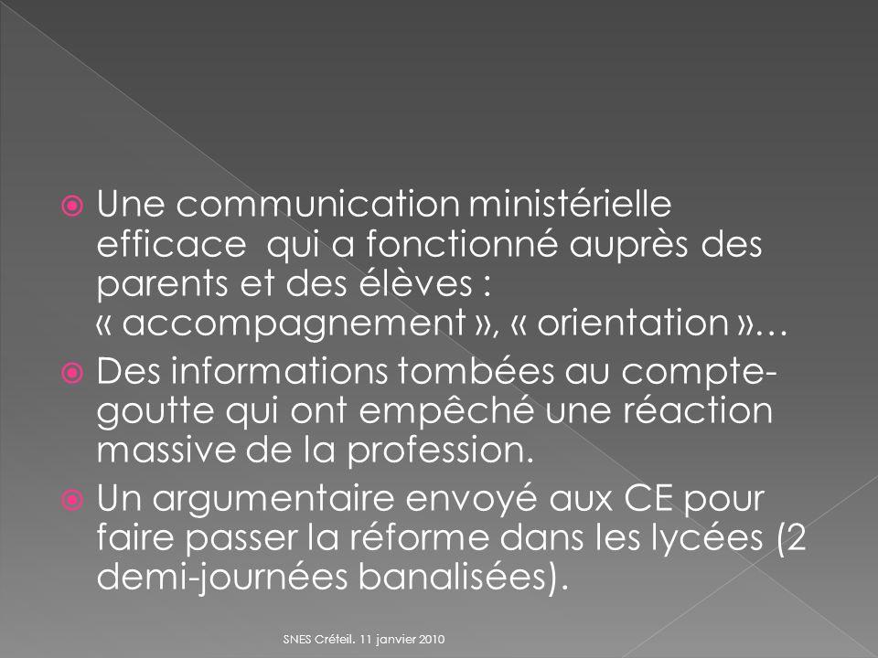 Une communication ministérielle efficace qui a fonctionné auprès des parents et des élèves : « accompagnement », « orientation »… Des informations tom