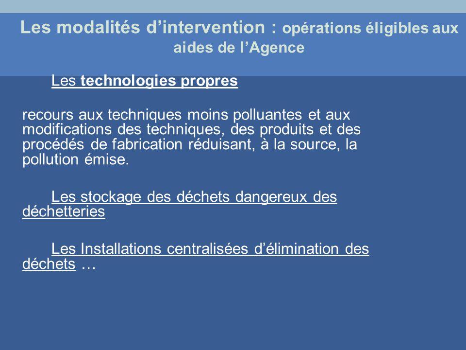 Les technologies propres recours aux techniques moins polluantes et aux modifications des techniques, des produits et des procédés de fabrication rédu