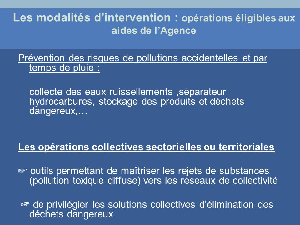 Prévention des risques de pollutions accidentelles et par temps de pluie : collecte des eaux ruissellements,séparateur hydrocarbures, stockage des pro