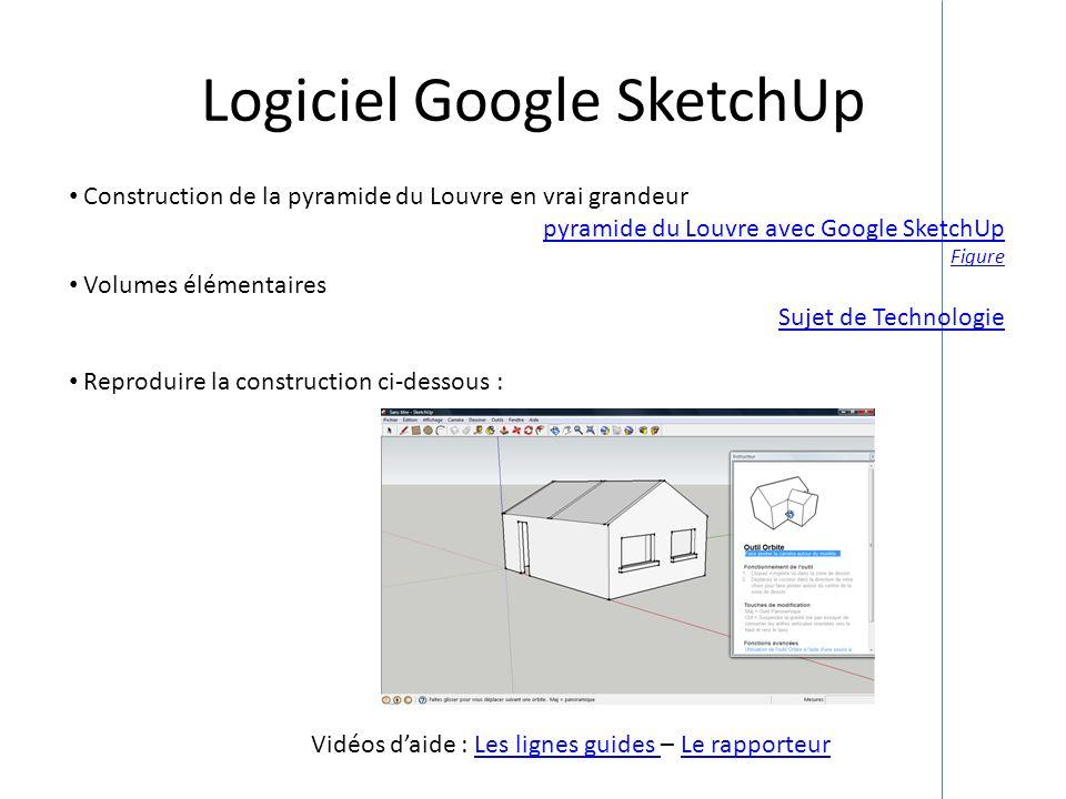 Logiciel Google SketchUp Construction de la pyramide du Louvre en vrai grandeur pyramide du Louvre avec Google SketchUp Figure Volumes élémentaires Su