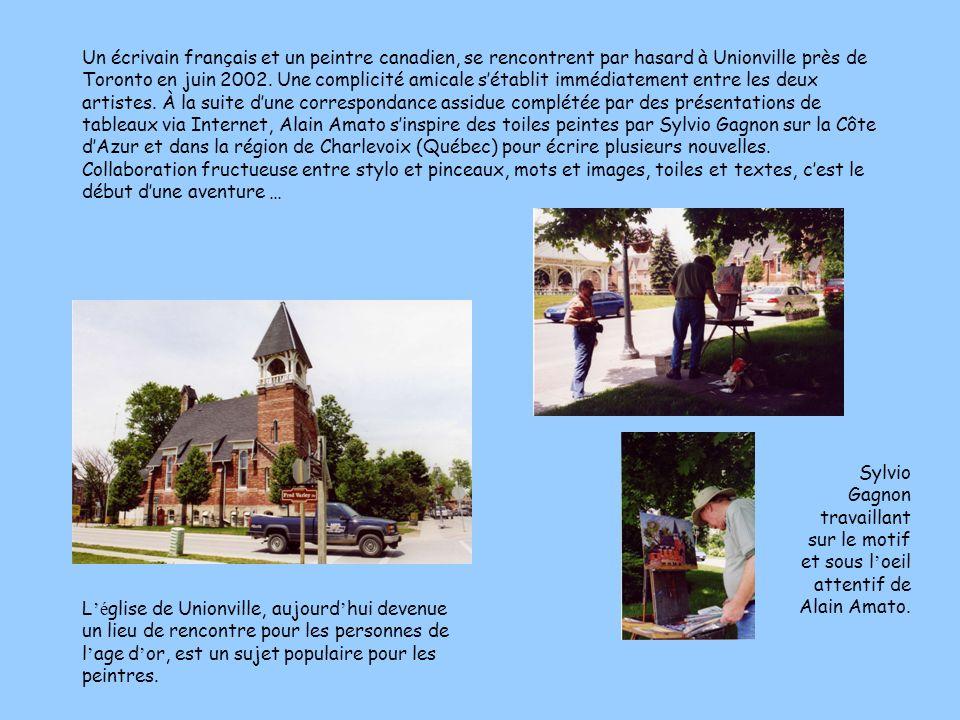 Un écrivain français et un peintre canadien, se rencontrent par hasard à Unionville près de Toronto en juin 2002. Une complicité amicale sétablit immé