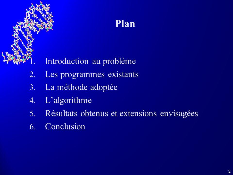 2 Plan 1. Introduction au problème 2. Les programmes existants 3.