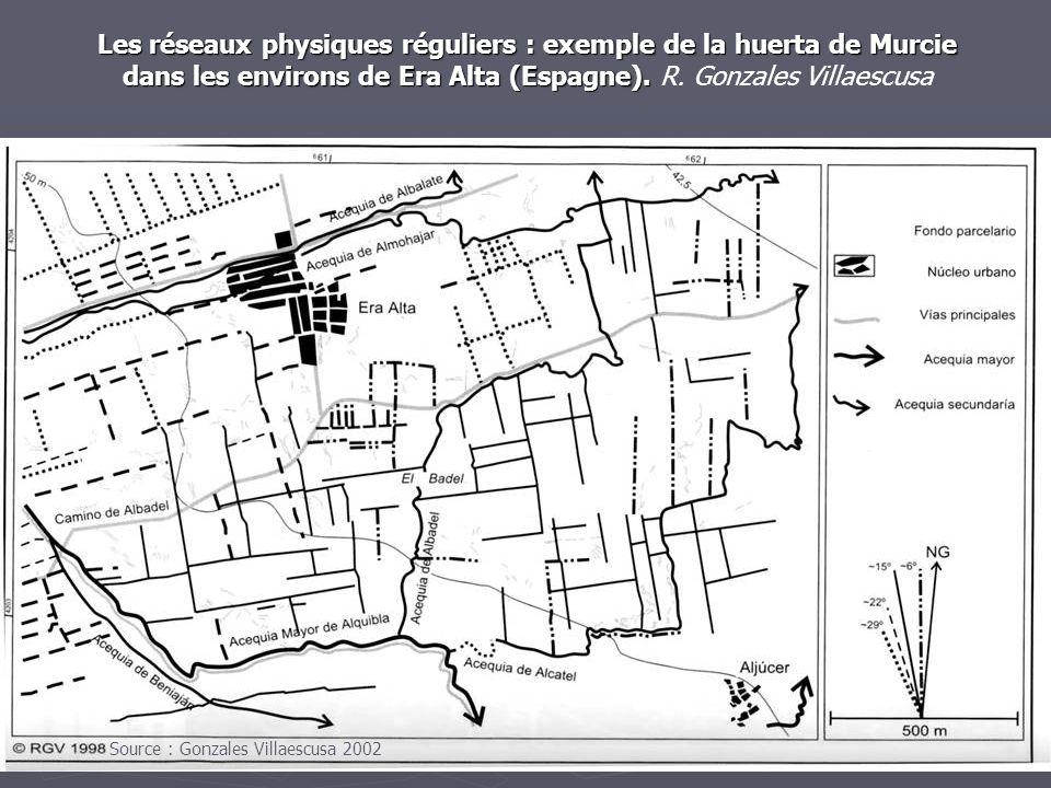 Les réseaux physiques réguliers : exemple de la huerta de Murcie dans les environs de Era Alta (Espagne). Les réseaux physiques réguliers : exemple de