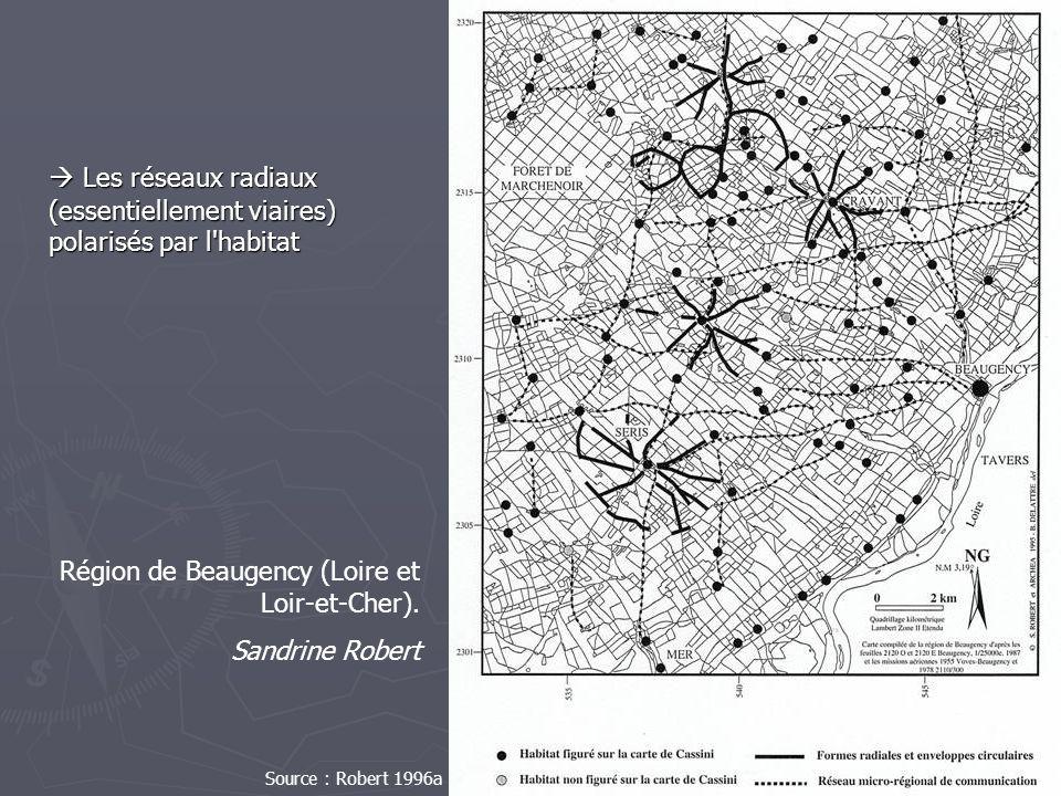 Les réseaux radiaux (essentiellement viaires) polarisés par l'habitat Les réseaux radiaux (essentiellement viaires) polarisés par l'habitat Source : R