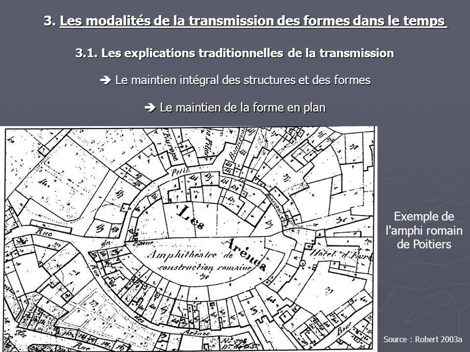 Le maintien de la forme en plan Le maintien de la forme en plan 3. Les modalités de la transmission des formes dans le temps 3. Les modalités de la tr