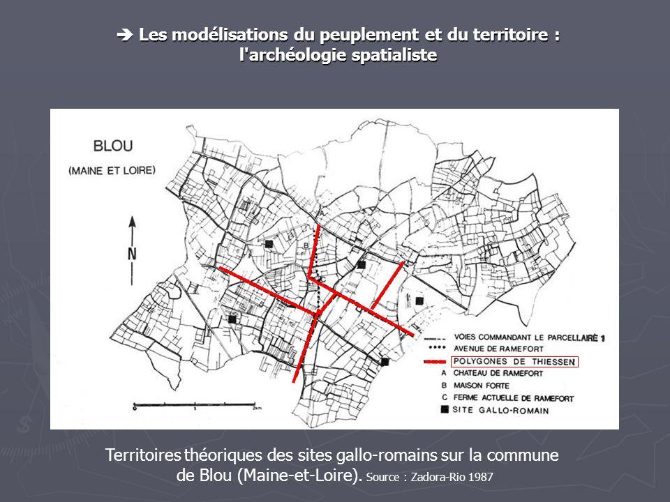 Les modélisations du peuplement et du territoire : Les modélisations du peuplement et du territoire : l'archéologie spatialiste Territoires théoriques