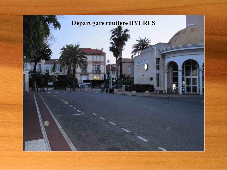 Départ gare routière HYERES