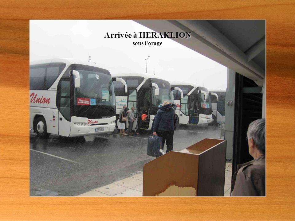 Arrivée à HERAKLION sous lorage