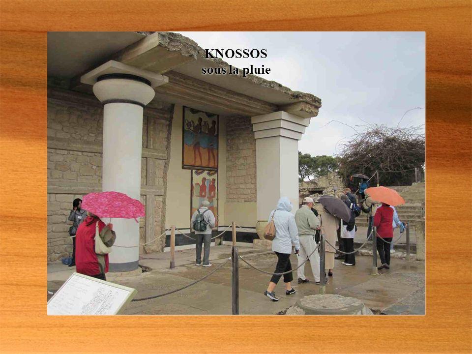 Mardi KNOSSOS site minoen occupé depuis 6000 av. J.C.