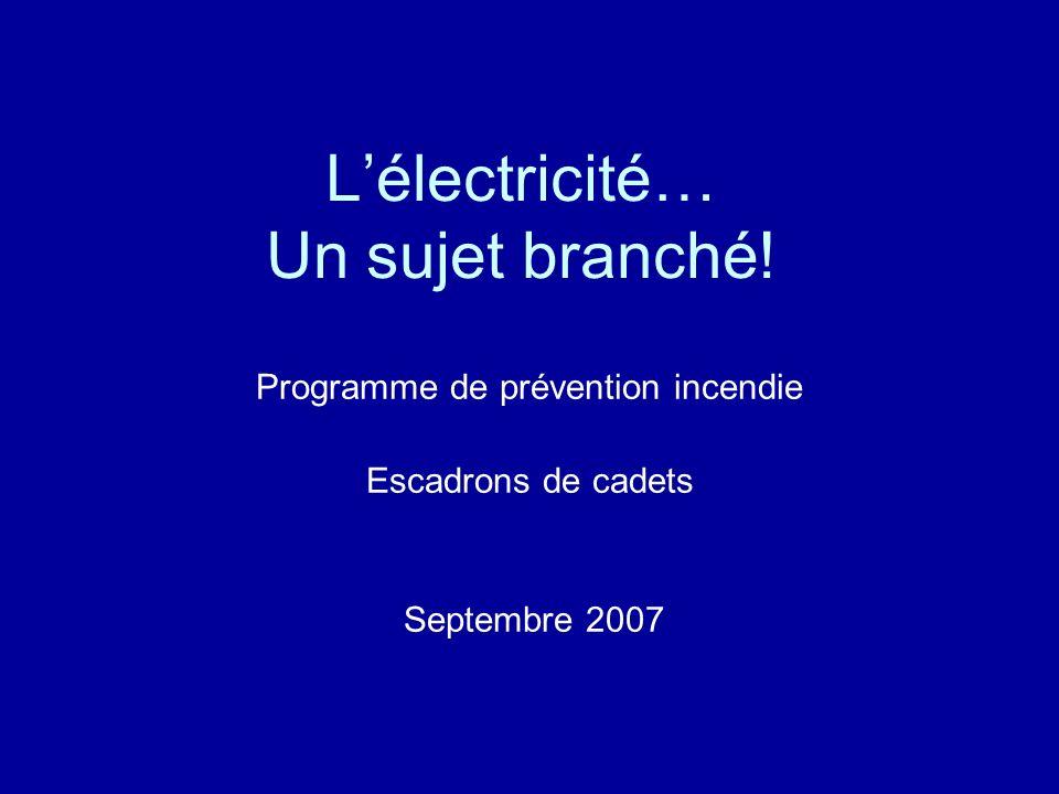 Objectifs Définir et comprendre lélectricité.