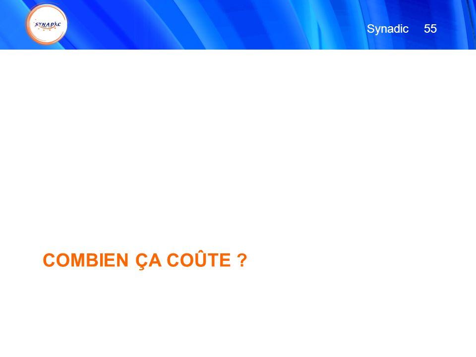 COMBIEN ÇA COÛTE ? 55 Synadic