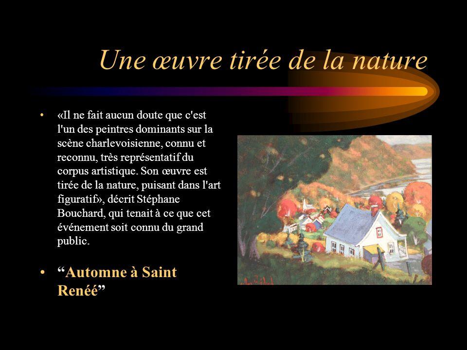 Un rayonnement national «C est la peinture qui choisi de s installer dans mon cœur et mon esprit et non l inverse», écrit Gilles Bédard, une courte phrase qui résume à elle seule la mentalité de l artiste, installé à Saint-Urbain.