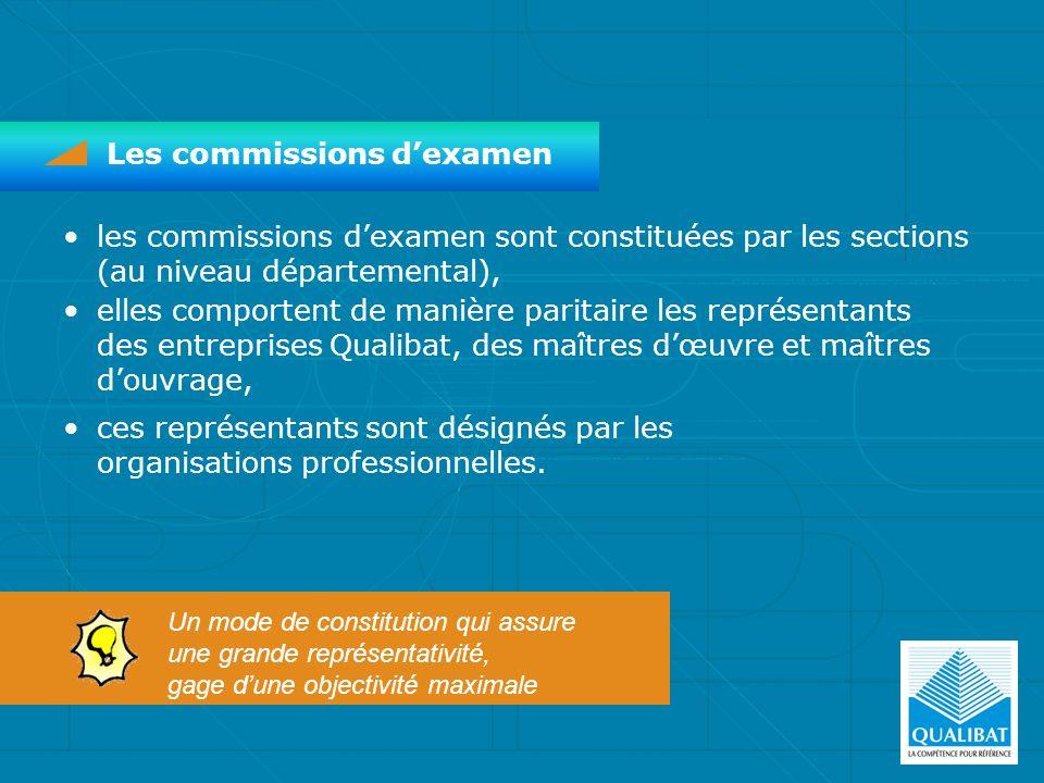 Les commissions dexamen les commissions dexamen sont constituées par les sections (au niveau départemental), elles comportent de manière paritaire les