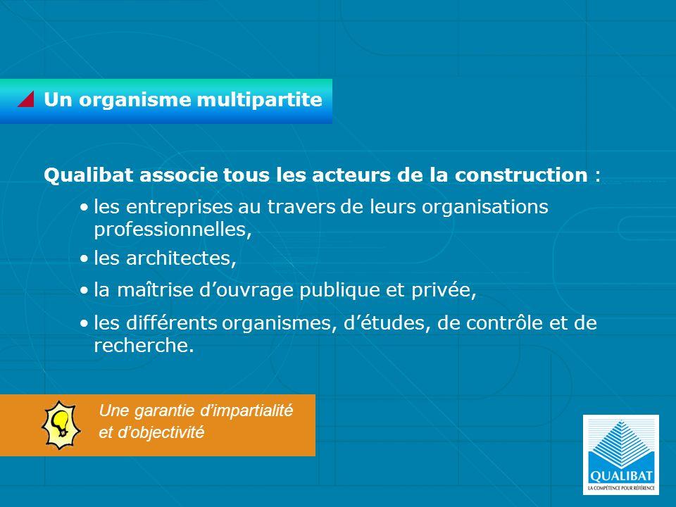 Qualibat associe tous les acteurs de la construction : les entreprises au travers de leurs organisations professionnelles, les architectes, la maîtris