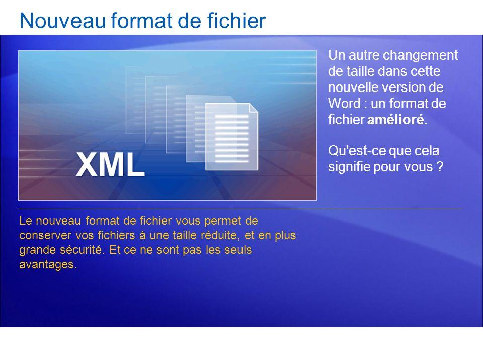 Un autre changement de taille dans cette nouvelle version de Word : un format de fichier amélioré. Qu'est-ce que cela signifie pour vous ? Le nouveau