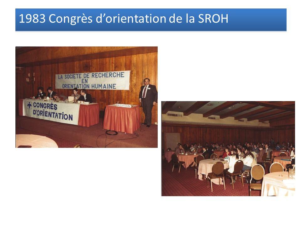 1983 Congrès dorientation de la SROH