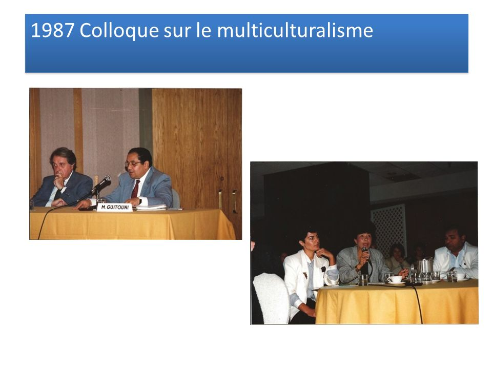 1987 Colloque sur le multiculturalisme