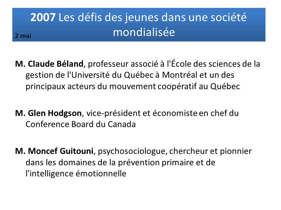 M. Claude Béland, professeur associé à l'École des sciences de la gestion de l'Université du Québec à Montréal et un des principaux acteurs du mouveme