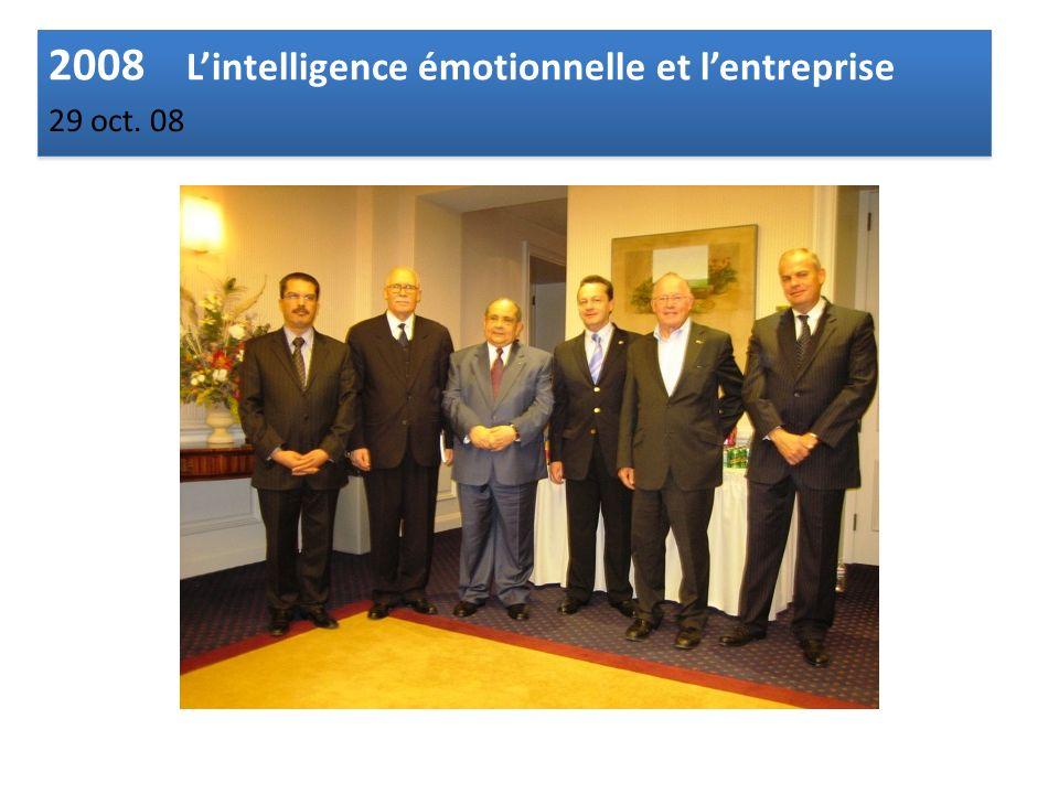 2008 Lintelligence émotionnelle et lentreprise 29 oct. 08