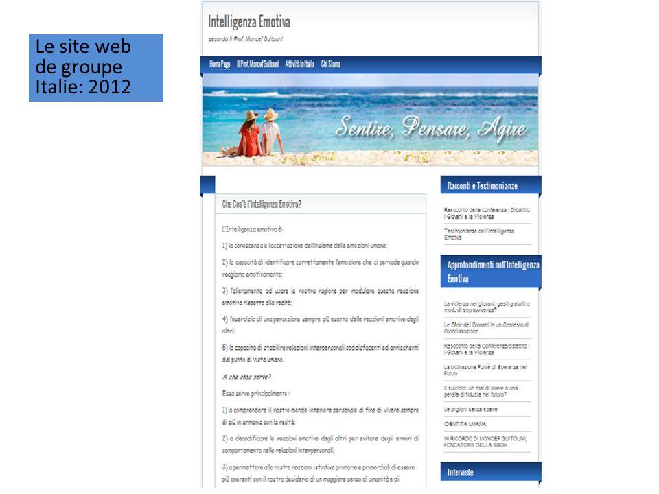 Le site web de groupe Italie: 2012