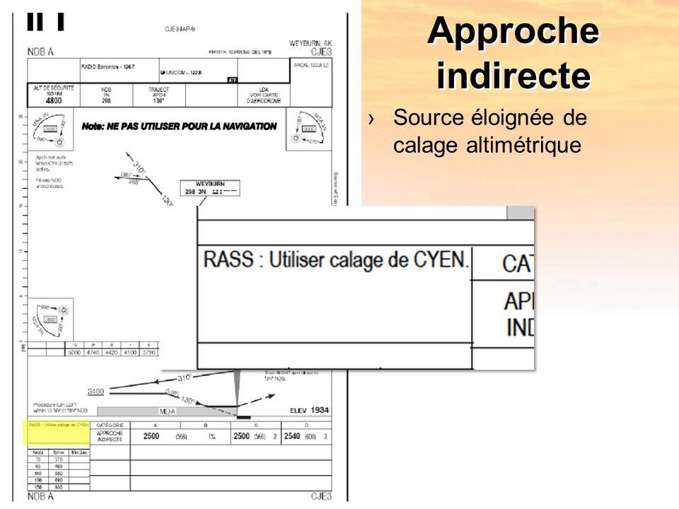 Approche indirecte Source éloignée de calage altimétrique