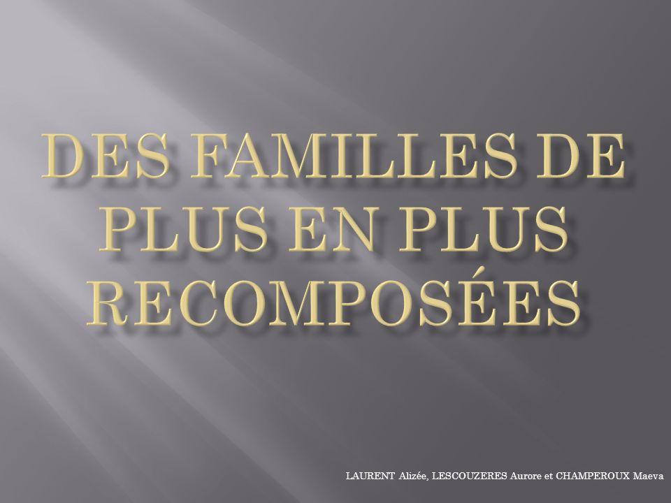 I - De plus en plus de divorces… 1°) Hier 1°) Hier 2°) Aujourdhui 2°) Aujourdhui 3°) En Europe… 3°) En Europe… II - … engendrent de plus en plus de famille recomposées.