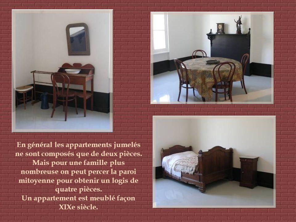 En général les appartements jumelés ne sont composés que de deux pièces.