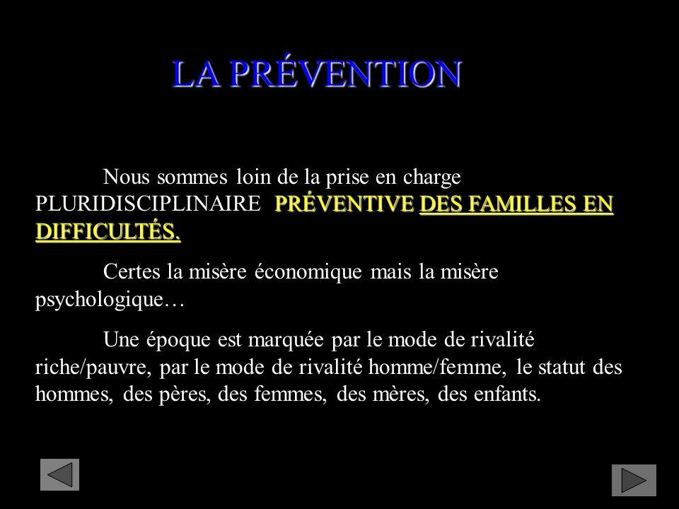 PRÉVENTIVE DES FAMILLES EN DIFFICULTÉS.