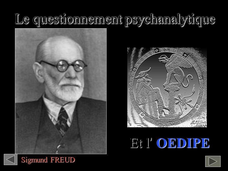 Le questionnement psychanalytique Et l OEDIPE Sigmund FREUD