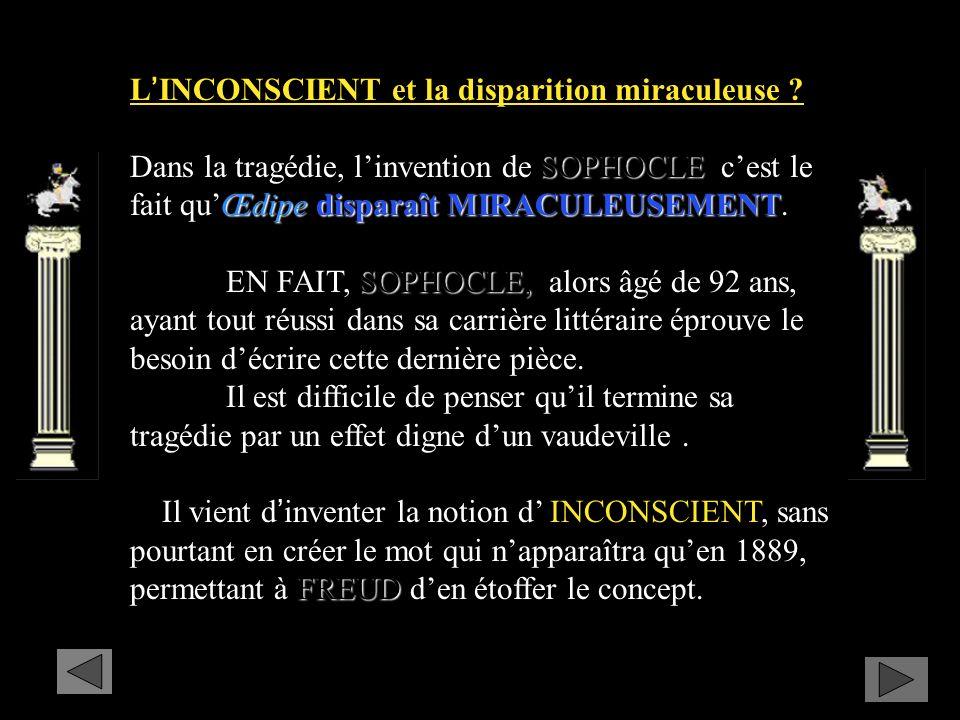 LINCONSCIENT et la disparition miraculeuse .