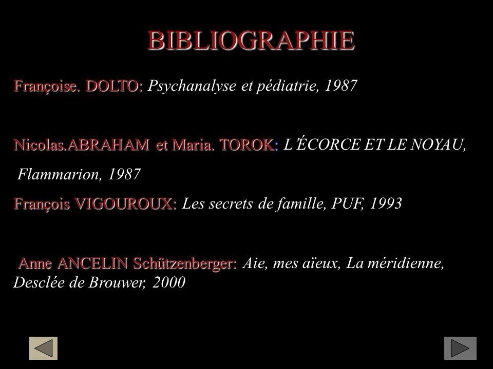 BIBLIOGRAPHIE Françoise.DOLTO: Françoise.