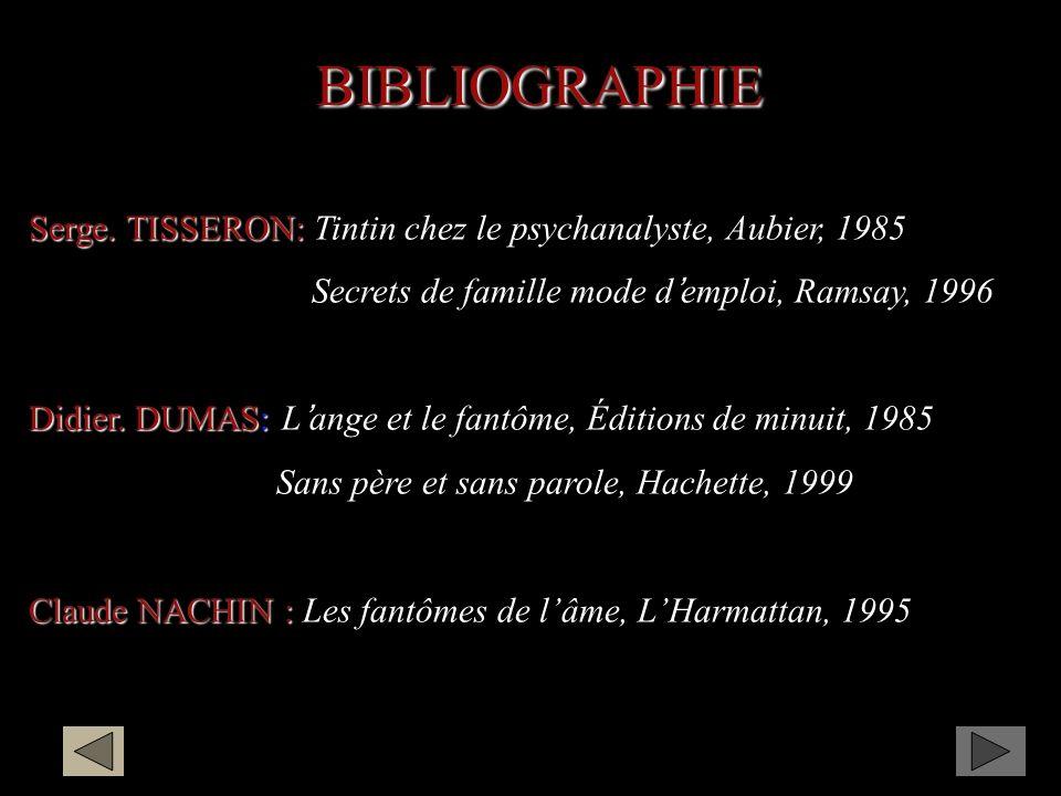 BIBLIOGRAPHIE Serge.TISSERON: Serge.