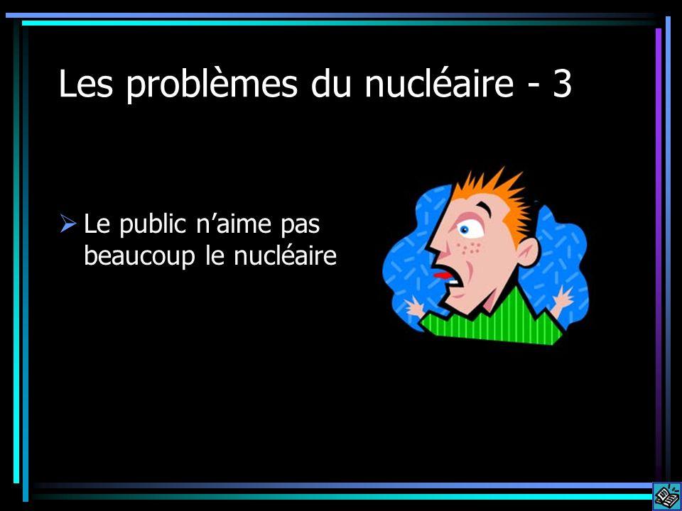 Les problèmes du nucléaire - 3 Le public naime pas beaucoup le nucléaire