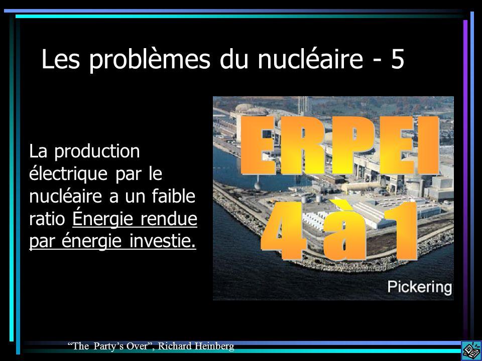 Les problèmes du nucléaire - 5 La production électrique par le nucléaire a un faible ratio Énergie rendue par énergie investie. The Partys Over, Richa