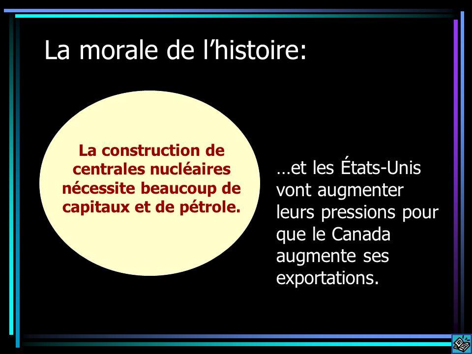 La morale de lhistoire: La construction de centrales nucléaires nécessite beaucoup de capitaux et de pétrole. …et les États-Unis vont augmenter leurs