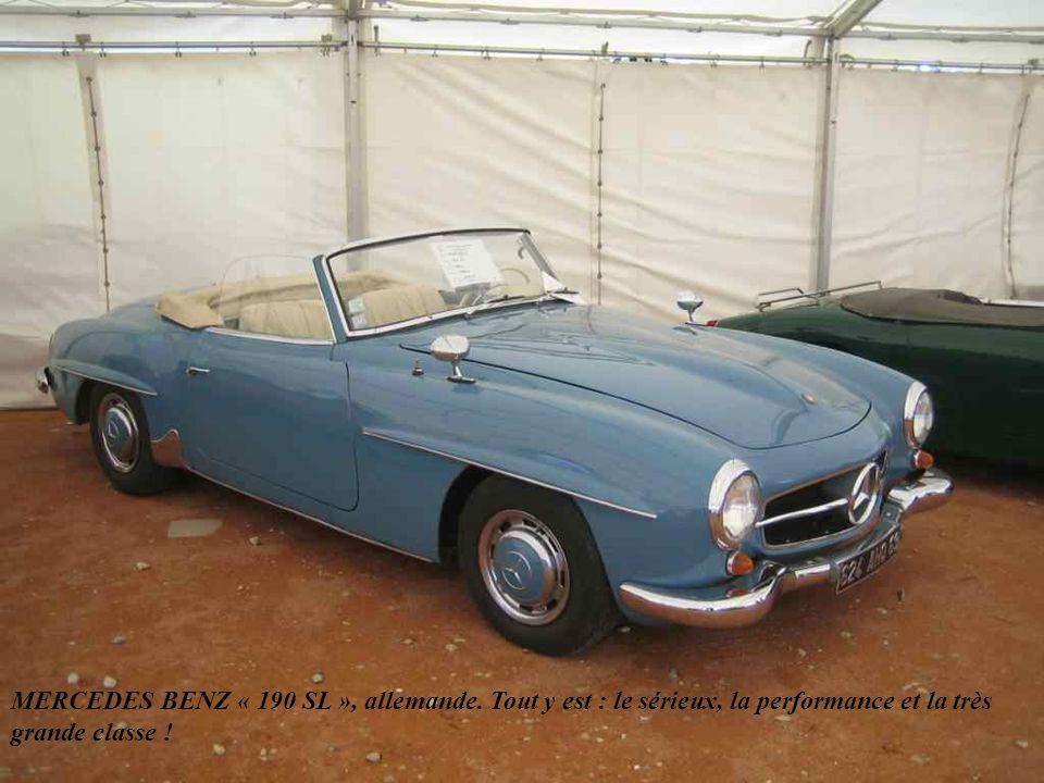 TRIUMPH anglaise de la série des TR 2, TR 3 et TR 4 lancée en 1953 avec un moteur de 1991 cm3 et suivie au début des années 60 par les plus abordables