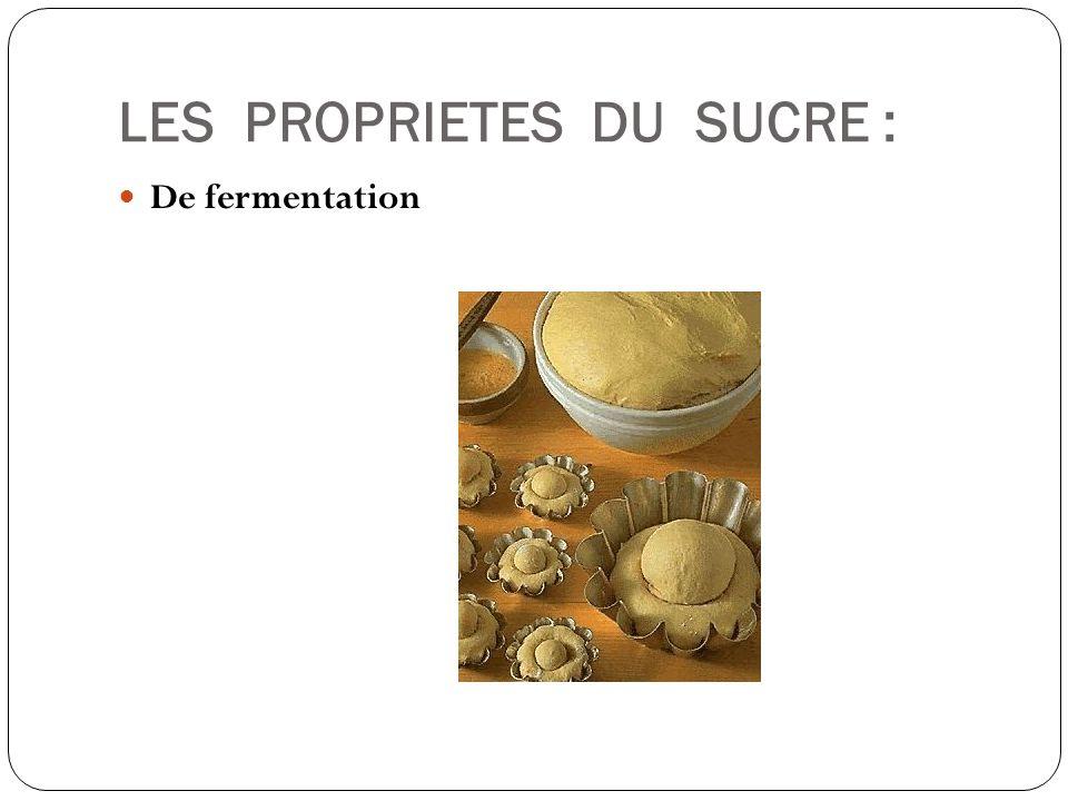 LES PROPRIETES DU SUCRE : De fermentation