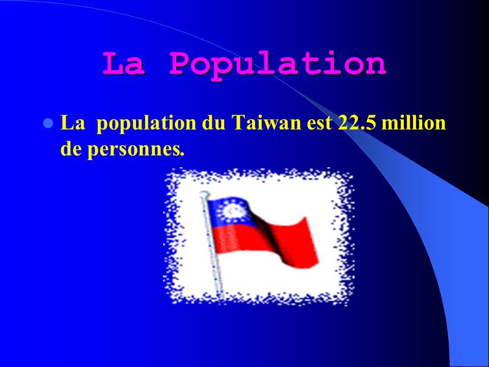 Le climat de Taiwan est placé sous linfluence dun climat de mousson.