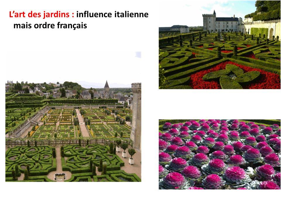 Lart des jardins : influence italienne mais ordre français