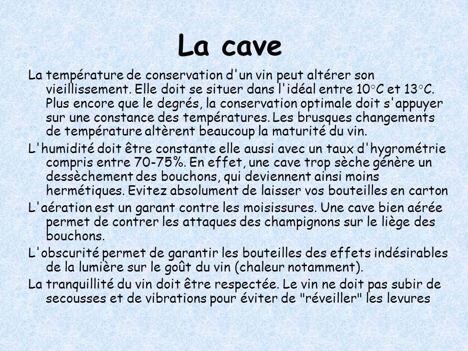 La cave La température de conservation d un vin peut altérer son vieillissement.