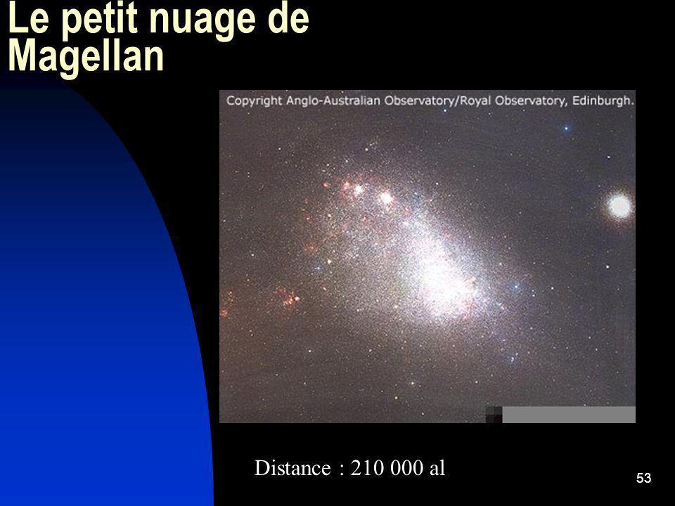 53 Le petit nuage de Magellan Distance : 210 000 al