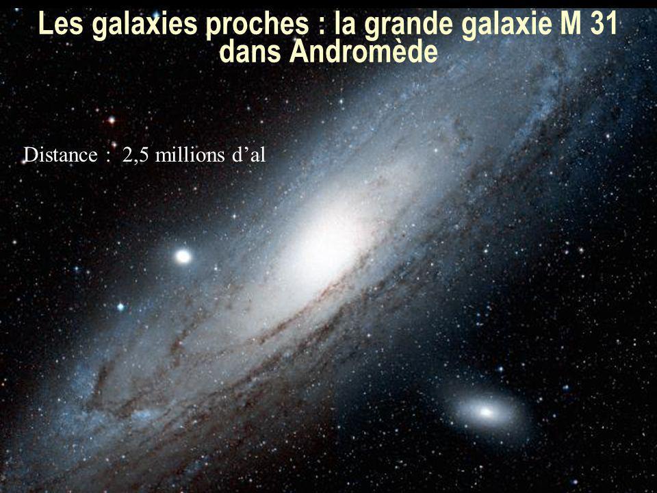 54 Les galaxies proches : la grande galaxie M 31 dans Andromède Distance : 2,5 millions dal