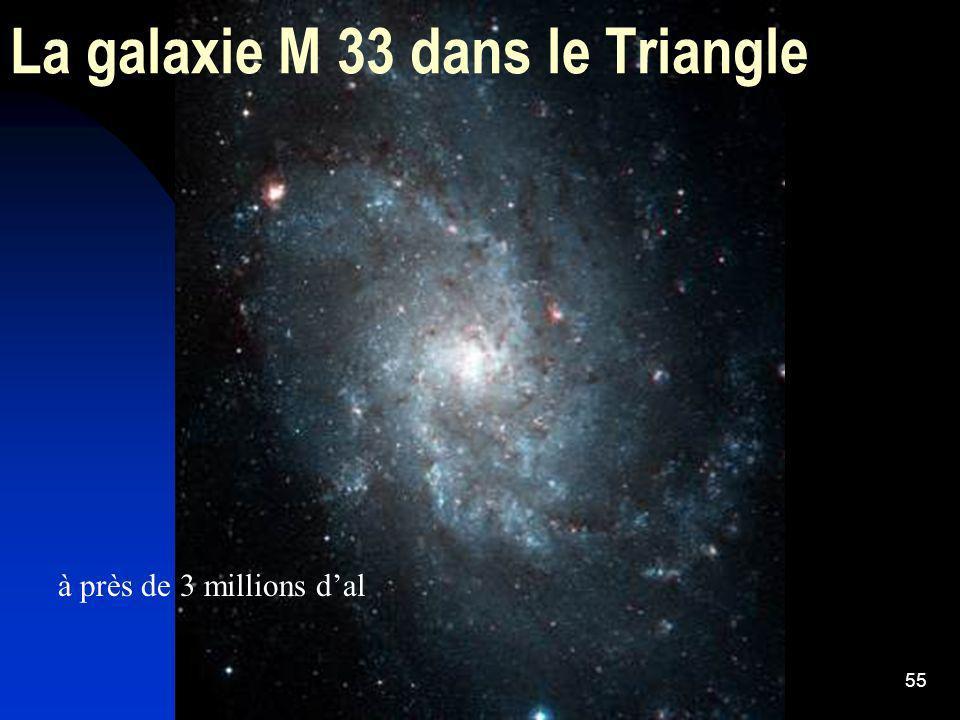 55 La galaxie M 33 dans le Triangle à près de 3 millions dal