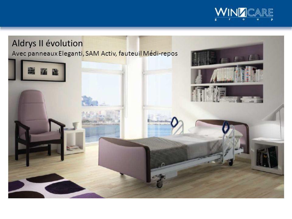 Aldrys II évolution Avec panneaux Eleganti, SAM Activ, fauteuil Médi-repos