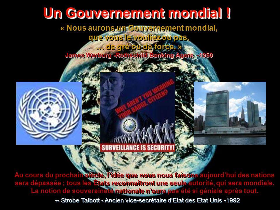 Un Gouvernement mondial .Un Gouvernement mondial .