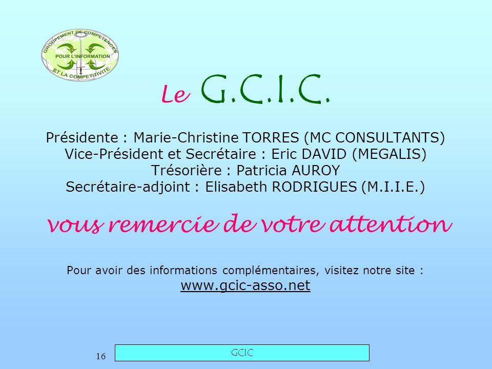 GCIC 16 Le G.C.I.C.