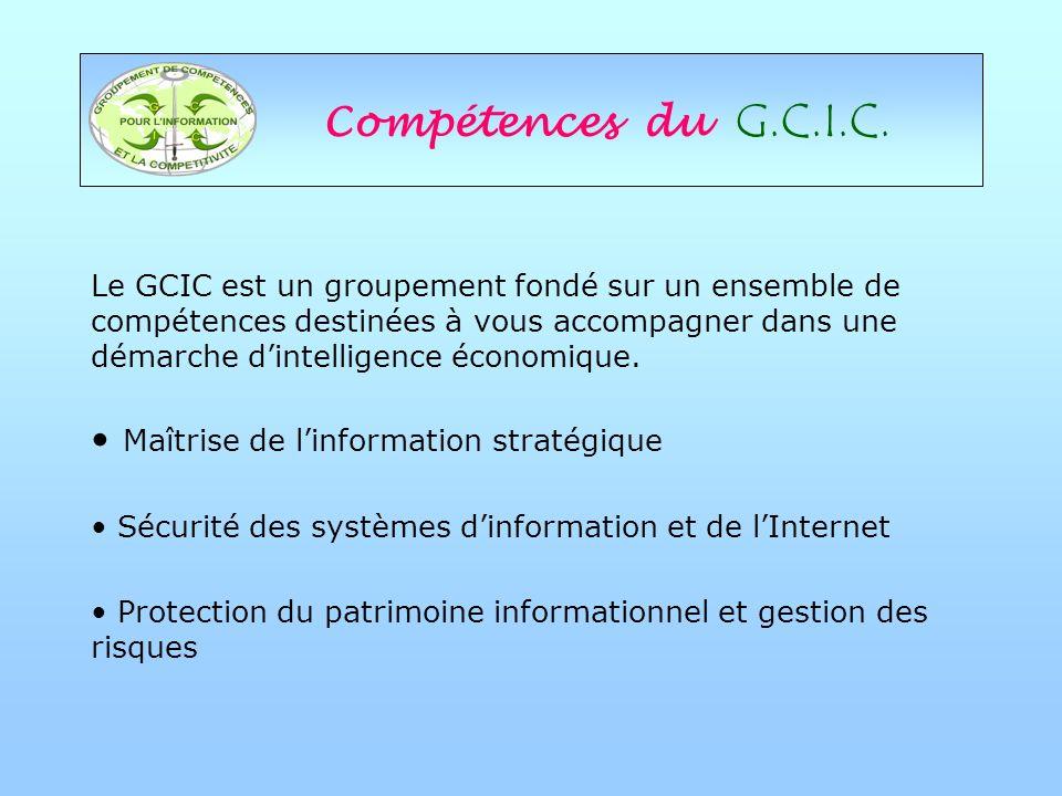 Compétences du G.C.I.C.